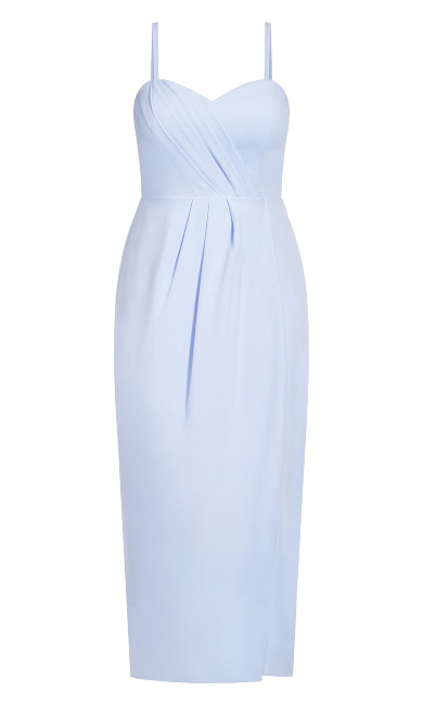 Sweet Drape Maxi Dress - powder blue
