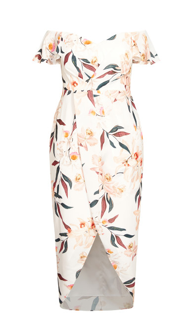 Sweet Orchid Maxi Dress - ivory