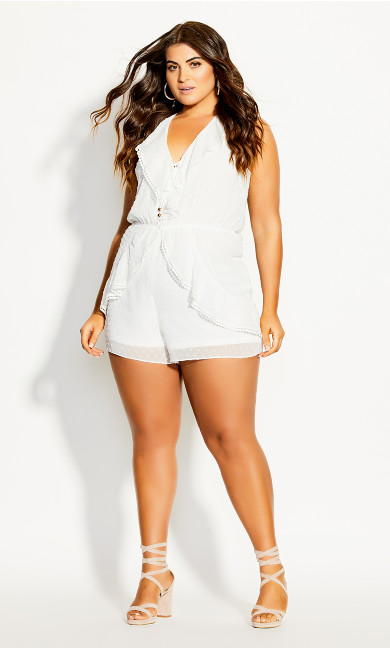 Angelic Playsuit - ivory