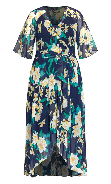 Shibuya Floral Maxi Dress - navy