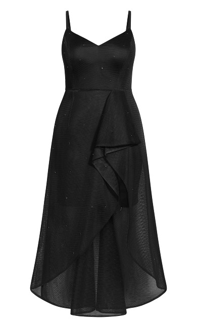 Glam Jewel Maxi Dress - black