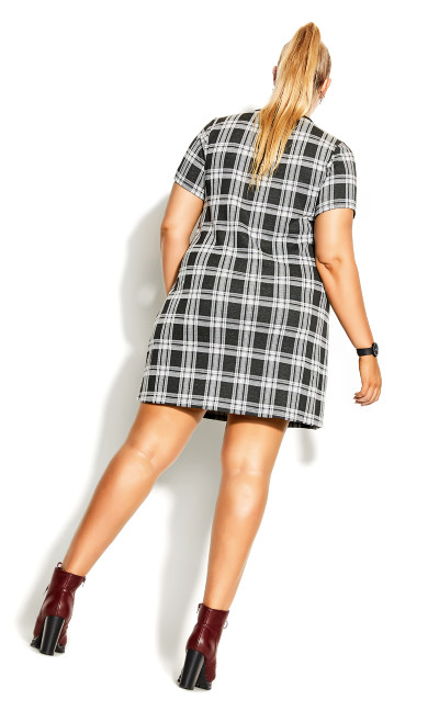 Tartan Love Dress - black