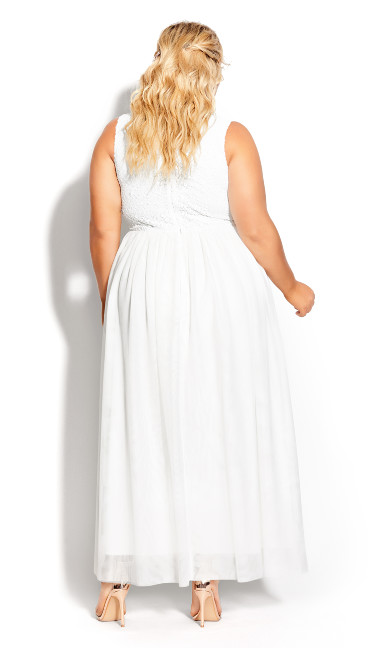 Shine Bright Maxi Dress - ivory