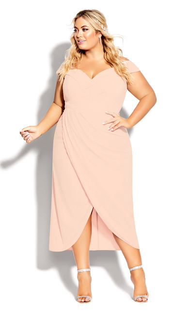 Plus Size Rippled Love Dress - quartz