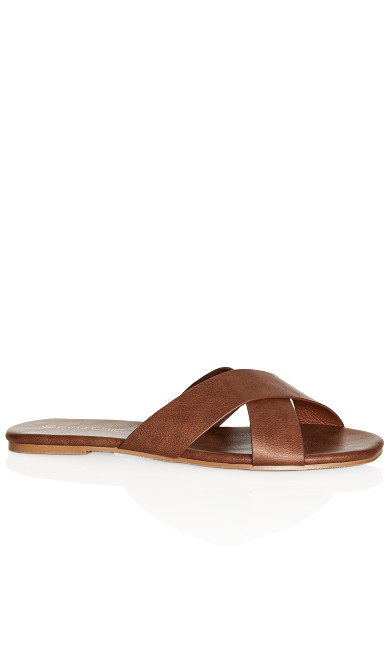 Plus Size Aditi Slide - coffee