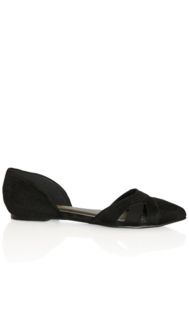 Plus Size Clara Flat - black
