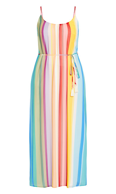 Gelato Stripe Maxi Dress - sunset