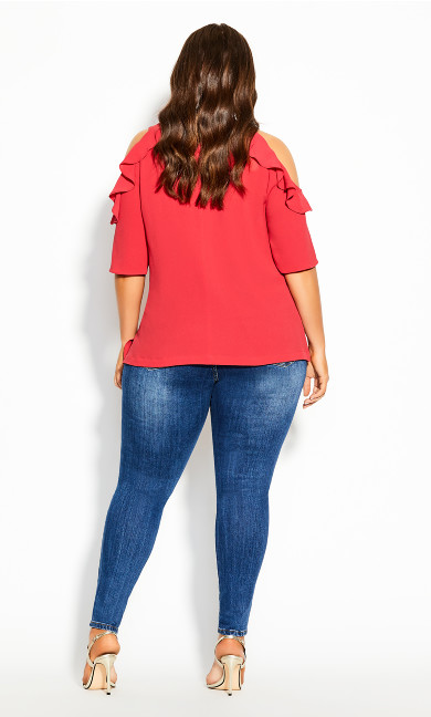 Wild Sleeve Top - raspberry