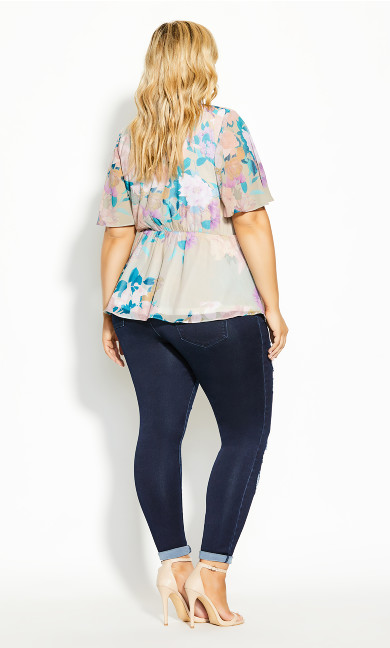 Dreamy Floral Top - straw