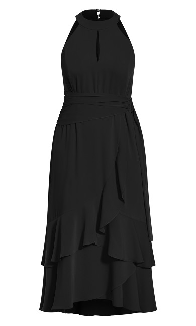 Grand Halter Maxi Dress - black
