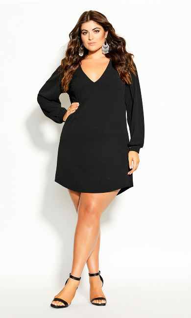 Plus Size Qiuero Dress - black