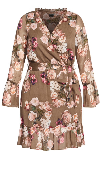 Kindred Floral Dress - taupe