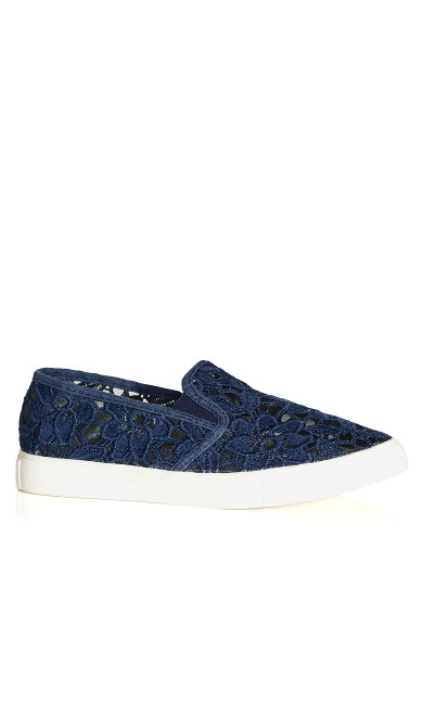 Plus Size Lacey Slip On - navy