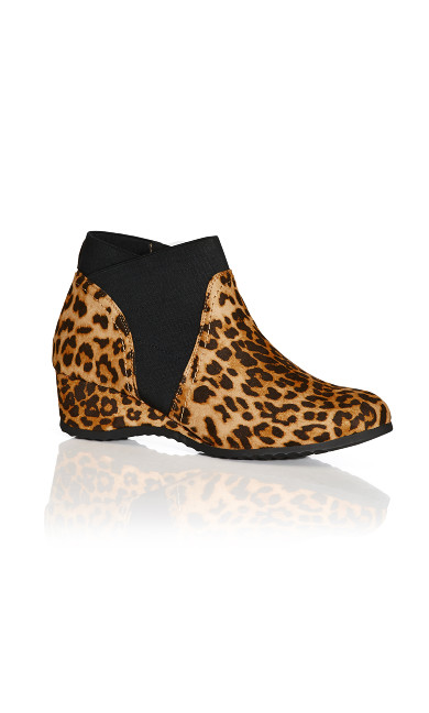 Plus Size Keira Ankle Boot - animal
