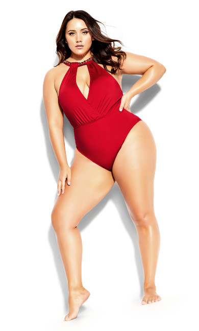 Paloma 1 Piece - red