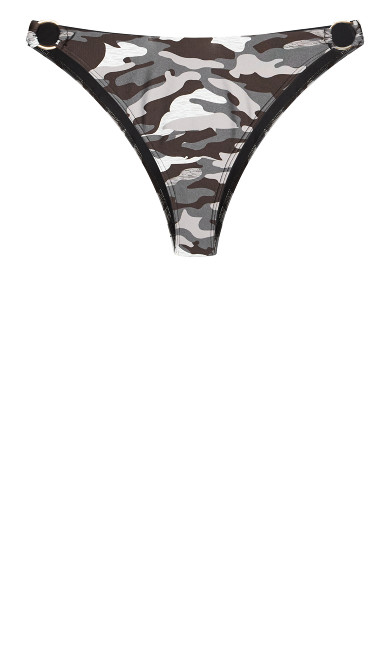 Ingrid Print Bikini Brief - black camo