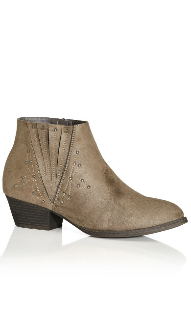 Plus Size Naples Ankle Boot - gray