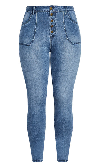 Harley Strut It Out Jean - light wash