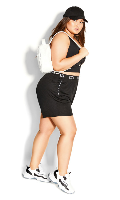 Plus Size Knock Out Short - black