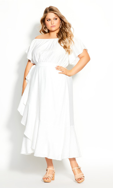 Plus Size Inspiration Maxi Dress - ivory