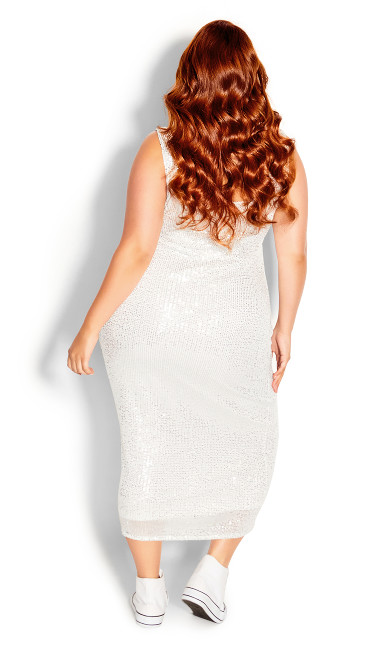Sexy Sequin Dress - silver