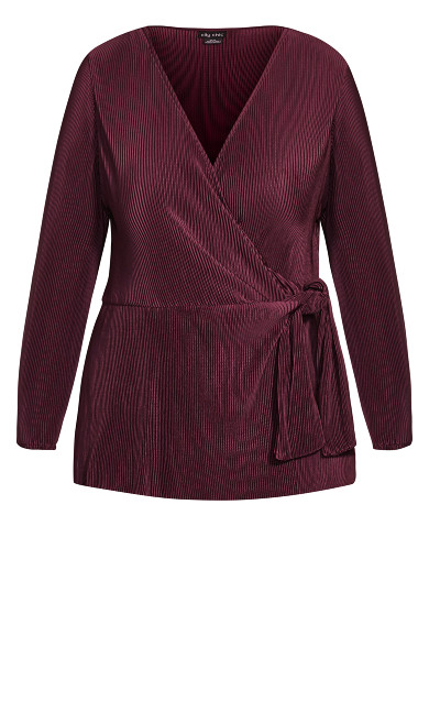 Baby Pleat Top - plum