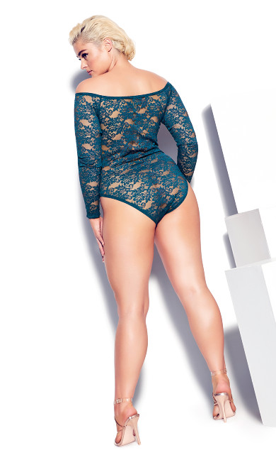 Sheer Lace Bodysuit - poseidon