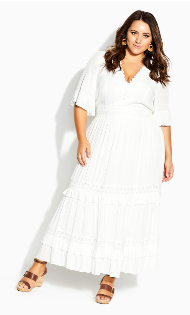 Dress Endless Lace Maxi Dress - ivory