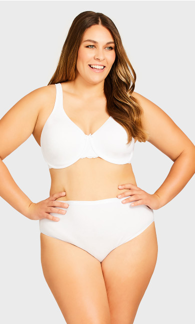 Plus Size Basic Comfort Cotton Hi Cut 