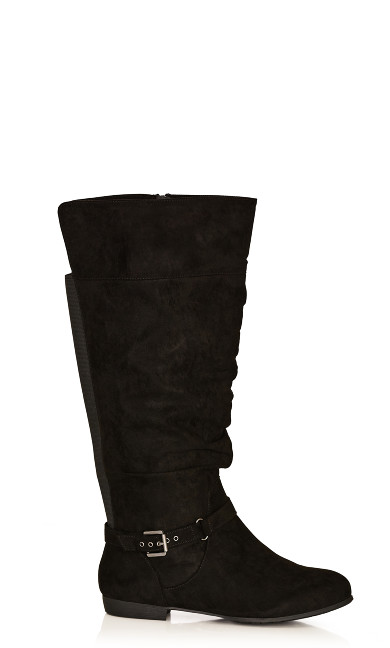 Plus Size Beacon Faux Suede Tall Boot - black