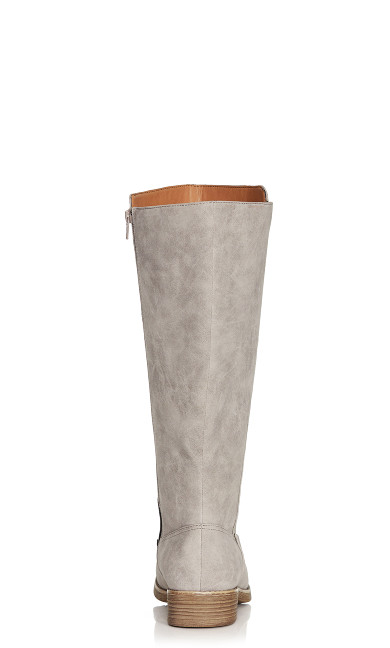 Nora Button Trim Tall Boot - taupe