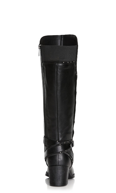 Yves Stud Detail Boot - black