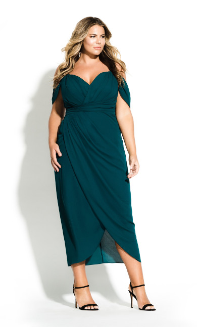Women's Plus Size Entwine Maxi Dress - Emerald