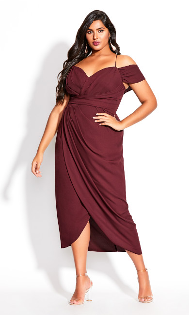 Women's Plus Size Entwine Maxi Dress - oxblood