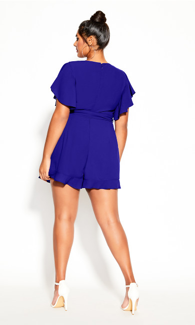Frill Love Playsuit - cobalt