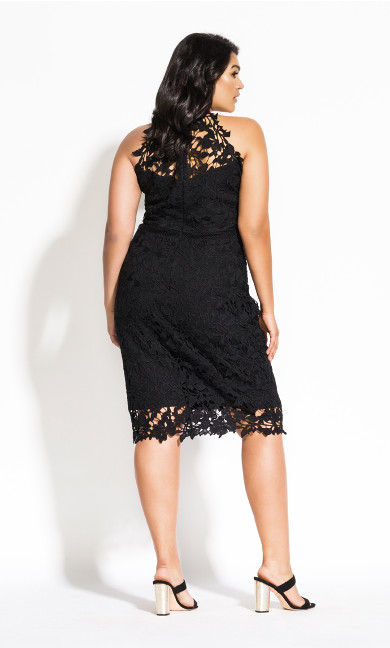 Lace Victorian Dress - black