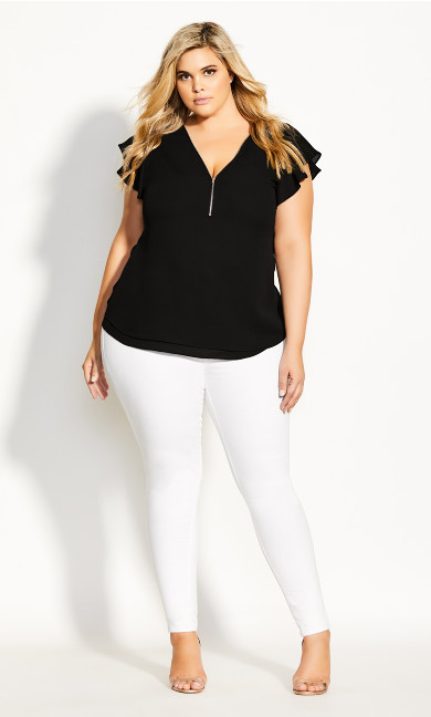 Women's Plus Size TOP ZIP FLING
