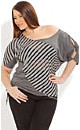 Spliced Multi Stripe Top