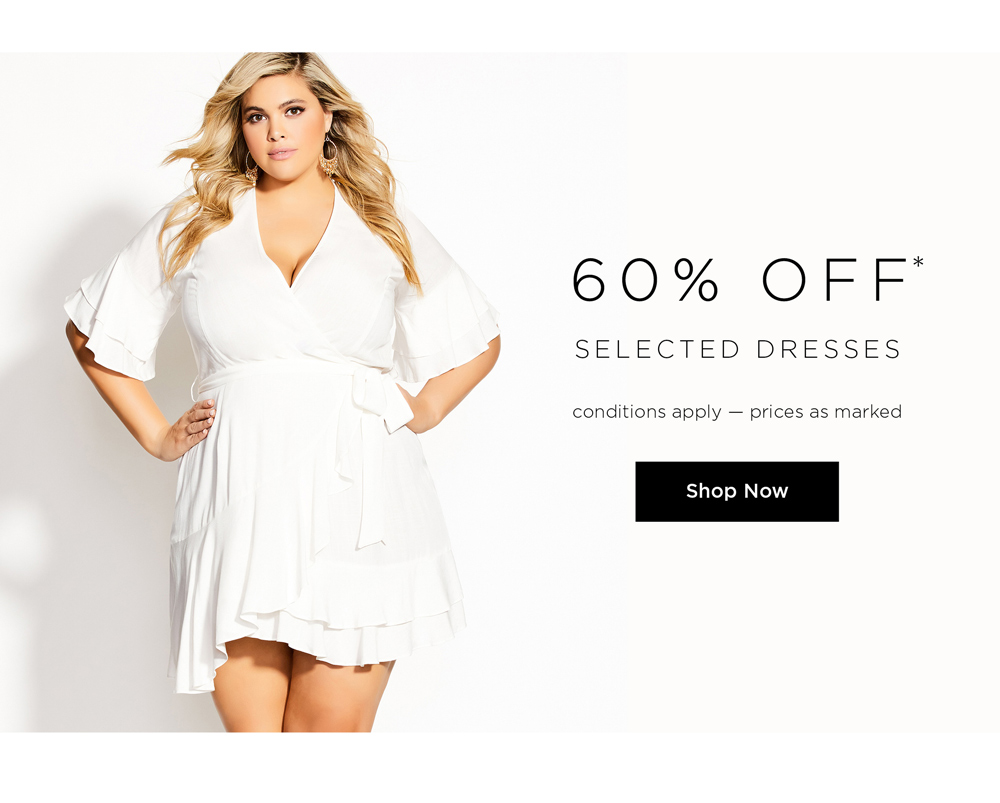 60% Off Selected Dresses. Conditions Apply - prices as marked. Shop Now.